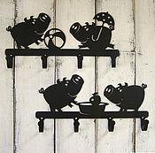 Для дома и интерьера ручной работы. Ярмарка Мастеров - ручная работа Крючки металлические Поросячий восторг. Handmade.