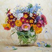 Картины и панно handmade. Livemaster - original item Pictures: garden bouquet. Handmade.