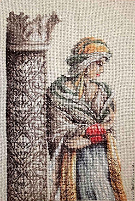 Люди, ручной работы. Ярмарка Мастеров - ручная работа. Купить Вышитая крестом картина Moorish woman. Handmade. Вышитая картина