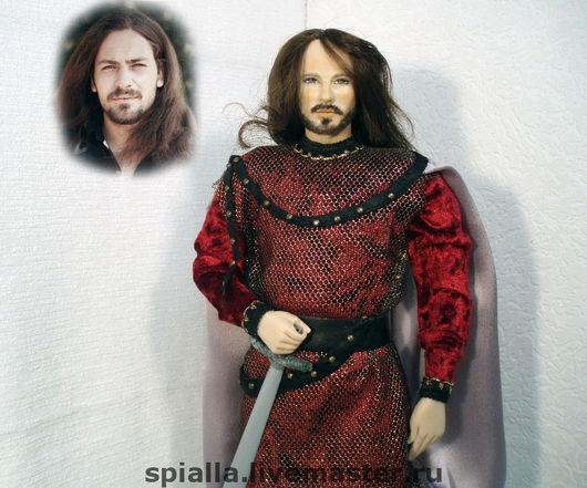 """Портретные куклы ручной работы. Ярмарка Мастеров - ручная работа. Купить """"Мой рыцарь"""" портретная кукла. Handmade. Подарки для мужчин"""