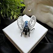 Украшения handmade. Livemaster - original item Brooch-pin: Fly. Handmade.