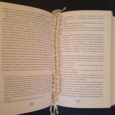 Канцелярские товары ручной работы. Ярмарка Мастеров - ручная работа Закладки:  закладка ажурная ромбиками. Handmade.