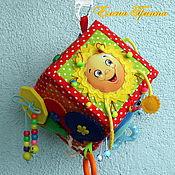 Кубики и книжки ручной работы. Ярмарка Мастеров - ручная работа Игрушка в коляску. Развивающий кубик от 6-ти мес. #8#. Handmade.