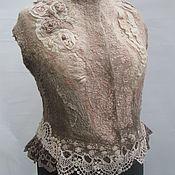 Одежда ручной работы. Ярмарка Мастеров - ручная работа Жилет валяный фактурный Royal gift. Handmade.