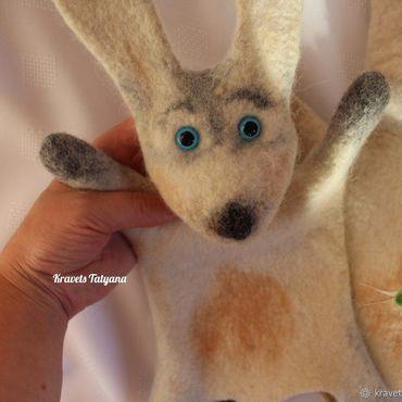 """Куклы и игрушки ручной работы. Ярмарка Мастеров - ручная работа Валяная игрушка - кукла перчатка """"Бибабо"""" Зайчик. Handmade."""
