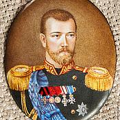 Картины и панно ручной работы. Ярмарка Мастеров - ручная работа Портрет на эмали Николай II. Handmade.