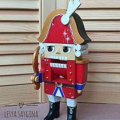 Мягкие игрушки ручной работы. Ярмарка Мастеров - ручная работа Щелкунчик деревянный 24 см (рот щелкает). Handmade.