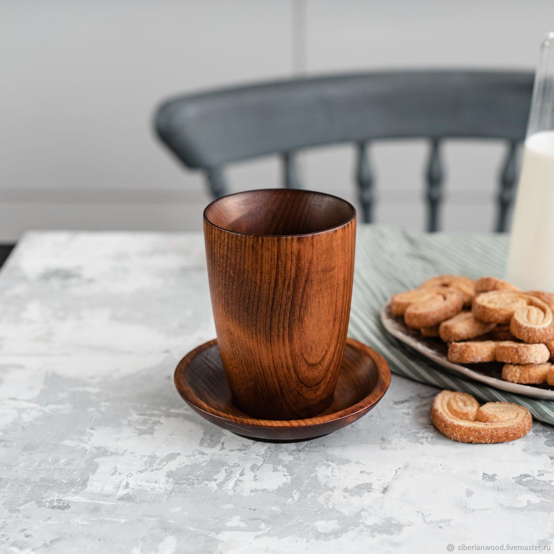 A couple of tea from the Siberian Cedar (Cup saucer) NC2, Mugs and cups, Novokuznetsk,  Фото №1