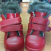 Работы для детей, ручной работы. Ярмарка Мастеров - ручная работа Зимние ботиночки. Натуральный мех и кожа. Handmade.