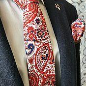 Аксессуары handmade. Livemaster - original item Stylish tie and handkerchief with Paisley print. Handmade.
