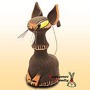 Сувениры и подарки ручной работы. Ярмарка Мастеров - ручная работа Египетская кошка,керамический колокольчик. Handmade.