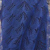 Аксессуары handmade. Livemaster - original item Summer linen shawl Dark night. Handmade.