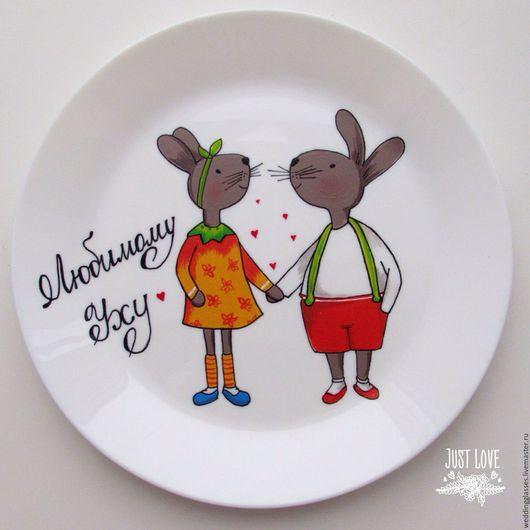 Подарки для влюбленных ручной работы. Ярмарка Мастеров - ручная работа. Купить Подарочная тарелочка на День Всех влюбленных. Handmade. Комбинированный