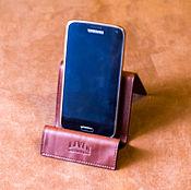 Сумки и аксессуары ручной работы. Ярмарка Мастеров - ручная работа Кожаная подставка для телефона планшета смартфона. Handmade.