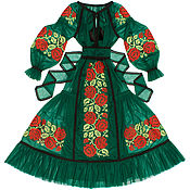 "Одежда handmade. Livemaster - original item Dark green tulle dress ""Rose Dreams"". Handmade."