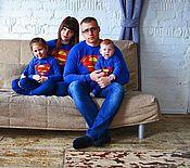 Одежда ручной работы. Ярмарка Мастеров - ручная работа Комплект свитшотов в стиле Family Look. Handmade.
