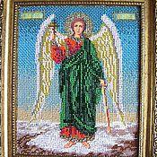 """Картины и панно ручной работы. Ярмарка Мастеров - ручная работа Бисерная икона """"Ангел-Хранитель"""". Handmade."""