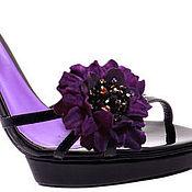 Украшения handmade. Livemaster - original item The flowers on the shoes. Handmade.