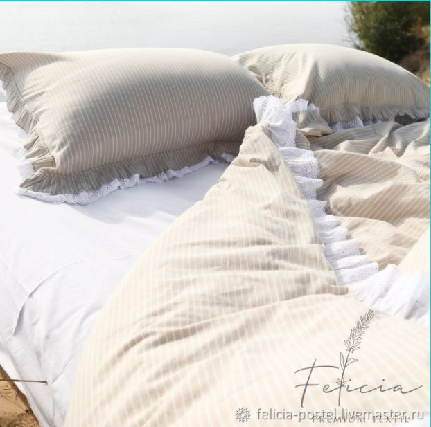 Bed linen. Boiled cotton. A sheet with an elastic band.Classic bed sheet, Bedding sets, Cheboksary,  Фото №1