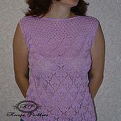 Одежда ручной работы. Ярмарка Мастеров - ручная работа Топ розово-сиреневый микс. Handmade.