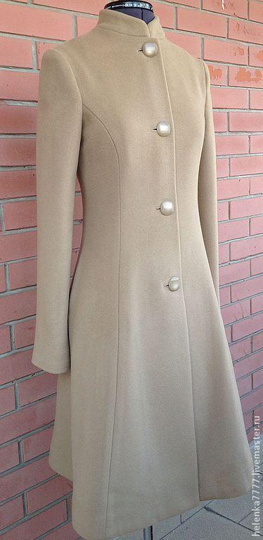 """Верхняя одежда ручной работы. Ярмарка Мастеров - ручная работа. Купить Пальто """"Элегия"""". Handmade. Бежевый, пальто на заказ"""