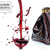 Сумки и аксессуары handmade. Livemaster - original item Leather bag handmade beaded Roses in wine. Handmade.