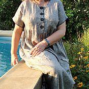 Одежда ручной работы. Ярмарка Мастеров - ручная работа Платье летнее льняное в Бохо стиле. Handmade.