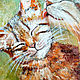 Order Oil painting cat and cat, romance Warm stories about the main thing. Yulia Berseneva ColoredCatsArt. Livemaster. . Pictures Фото №3