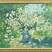 Картины и панно handmade. Livemaster - original item Oil painting flowers 50/70