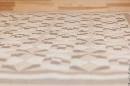 Текстиль, ковры ручной работы. Ярмарка Мастеров - ручная работа. Купить покрывало Льняная сказка. Handmade. Серый, одеяло пэчворк