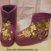"""Обувь ручной работы. Ярмарка Мастеров - ручная работа Валеночки """"Аромат сиреневых снов"""". Handmade."""