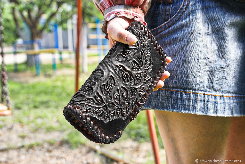 Leather wallet 'Tree of Life' - Anthracite, Wallets, Krasnodar,  Фото №1