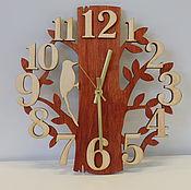 """Для дома и интерьера ручной работы. Ярмарка Мастеров - ручная работа Часы """"Лесной этюд"""" настенные деревянные с золотыми стрелками. Handmade."""