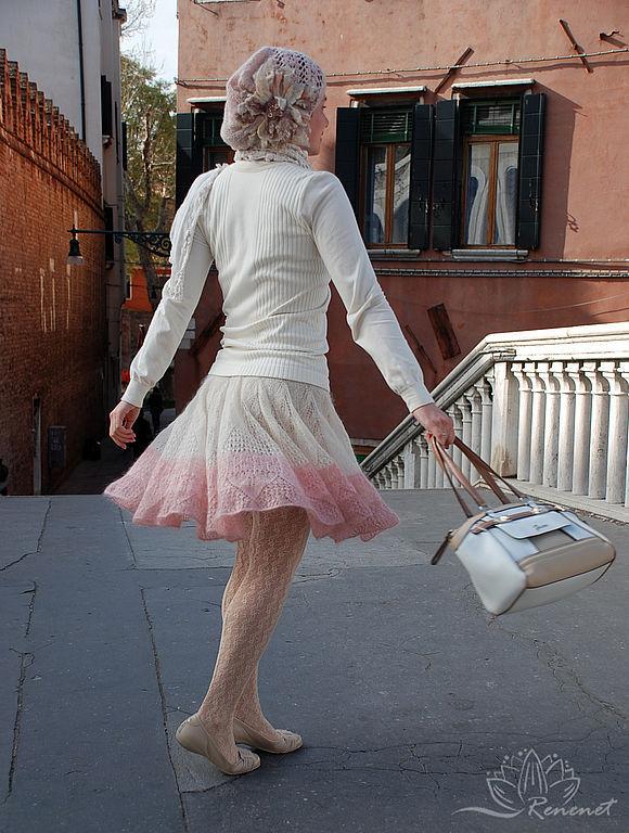 Вязаная юбка на весну