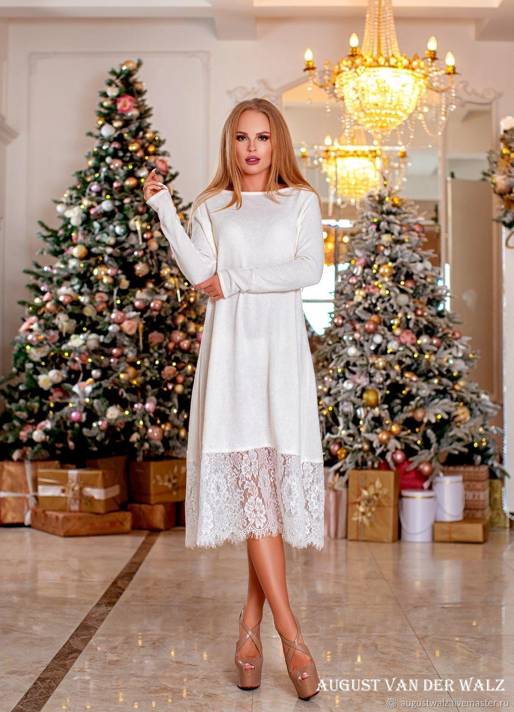 Теплое платье А силуэт, отделка кружевами, Платья, Санкт-Петербург, Фото №1