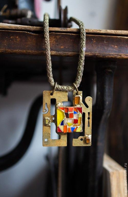 """Кулоны, подвески ручной работы. Ярмарка Мастеров - ручная работа. Купить Подвеска """"Мозаика"""". Handmade. Мозаика, steampunk, подарок девушке"""