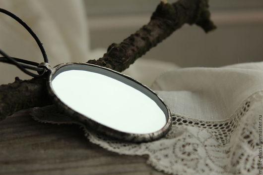 """Кулоны, подвески ручной работы. Ярмарка Мастеров - ручная работа. Купить Кулон """"Мirror"""" стекло. Handmade. Чёрно-белый, серый"""