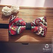 Аксессуары handmade. Livemaster - original item Tie Red flora / butterfly tie with red flowers. Handmade.