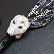 "Субкультуры handmade. Livemaster - original item Bracelet and ring ""Winter is coming"", Game of Thrones. Handmade."