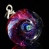 Украшения handmade. Livemaster - original item Pendant ball Raspberry space. Galaxy, planet. Cosmic Jewelry. Handmade.