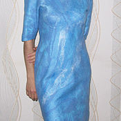 "Одежда handmade. Livemaster - original item Dress on silk felted ""Blue Dream"". Handmade."