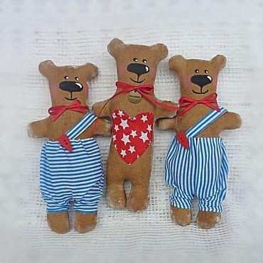 Куклы и игрушки ручной работы. Ярмарка Мастеров - ручная работа Мишка Тильда с сердечком. Handmade.