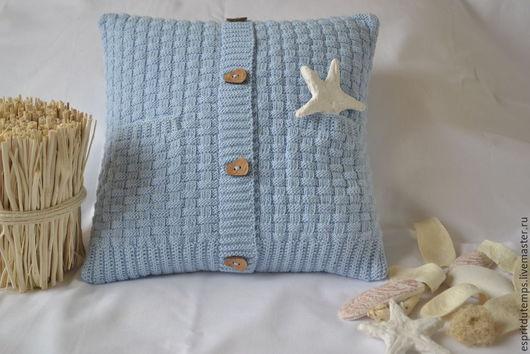 """Текстиль, ковры ручной работы. Ярмарка Мастеров - ручная работа. Купить """"La douceur"""" Вязаная подушка в стиле Прованс. Handmade."""