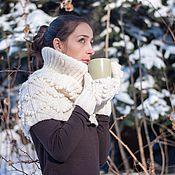 Аксессуары ручной работы. Ярмарка Мастеров - ручная работа модный вязаный шарф снуд. Handmade.
