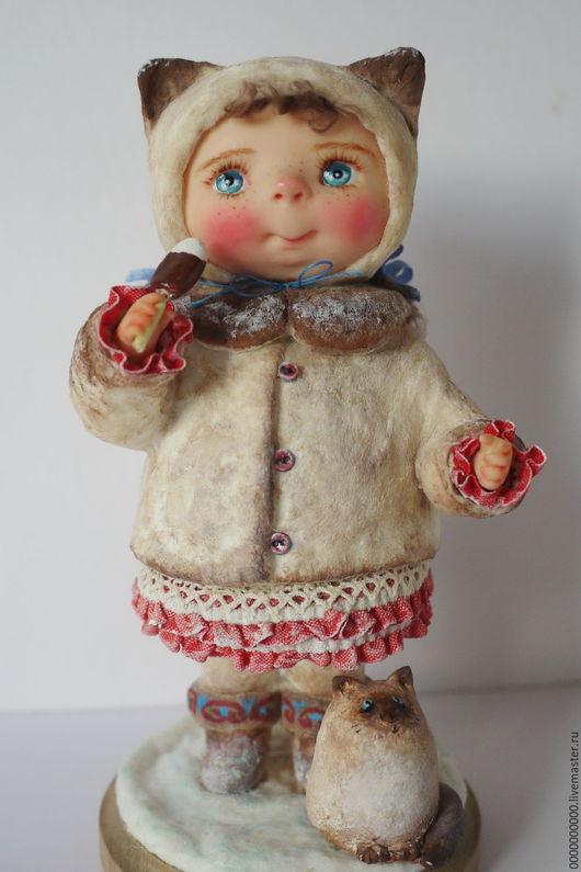 Коллекционные куклы ручной работы. Ярмарка Мастеров - ручная работа. Купить Варя. Handmade. Ватная игрушка, рождество 2017