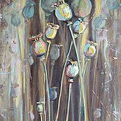 Картины и панно ручной работы. Ярмарка Мастеров - ручная работа Картина маслом Маки.  Авторская картина маслом на холсте. Handmade.