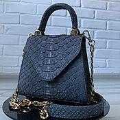 Сумки и аксессуары handmade. Livemaster - original item Crossbody bag made of genuine Python leather premium line. Handmade.