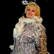 """Одежда ручной работы. Ярмарка Мастеров - ручная работа Валяное пальто   """"Жемчужное"""". Handmade."""