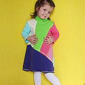 """Работы для детей, ручной работы. Ярмарка Мастеров - ручная работа """"Игра цвета"""". Трикотажное платье. Handmade."""