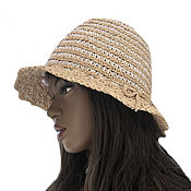 Аксессуары handmade. Livemaster - original item Raffia hat Scandinavia. Handmade.